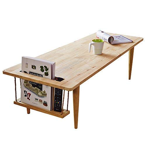 Wood Coffees Table for Living Room Modern Side Table Low Japanese Tea Table Cocktail Tables Decor (47.2519.6813.58 inch)