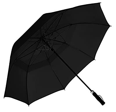 EEZ-Y Golf Umbrella w/ Extra Large 62-inch Windproof Canopy - Auto Open Sturdy & Lightweight