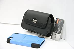iPhone 5 Premium Hybrid Case with Kickstand and Plus Size Pouch