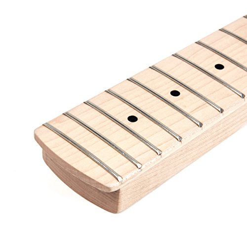 Electric Bass Guitar Neck for Fender Jazz Bass Parts Replacement Maple 21 Frets Bolt On Clear Satin From AK-music by Kmise (Image #4)'