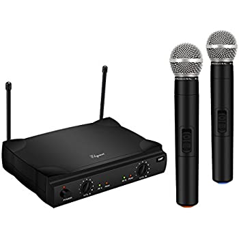 naxa nam 984 dual handheld wireless microphone starter kit with wireless fm receiver. Black Bedroom Furniture Sets. Home Design Ideas