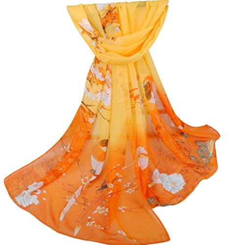 HYIRI Chiffon Shawl Wrap Wraps Scarf,Fashion Women Printed