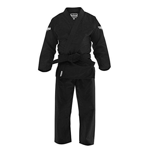 Yudansha Fightwear Black Brazilian Jiu Jitsu Gi - 350 GSM Pearl Weave - IBJJF Approved