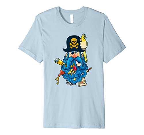 Pirate Captain Blue Beard Birthday Party Shirt for (Pirate Captain Beard)