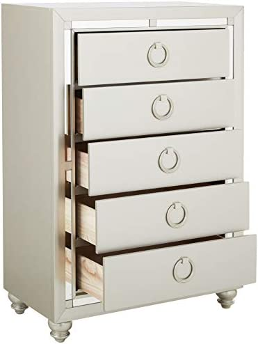 home, kitchen, furniture, bedroom furniture,  dressers 9 image Global Furniture USA (1621 Riley Chest, Silver in USA