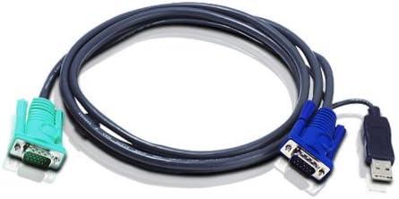 5.0m Aten KVM Verbindungskabel KVM Kabel HD15//St USB//A St an SPHD15//St