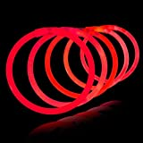 Lumistick 8 Inch 1000 Pack Glow Sticks - Bendable Glow Sticks with Necklace and Bracelet Connectors - Glowstick Bundle Party Bracelets (1000, Red)