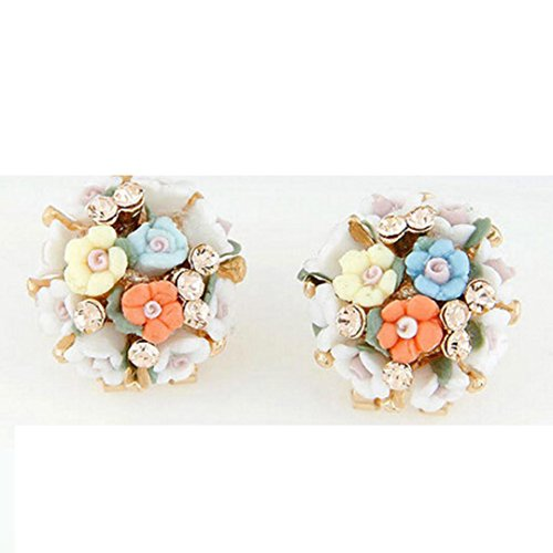 usstore-1pair-womens-temperament-small-flowers-ceramic-ear-stud-earrings-jewelry-multicolor
