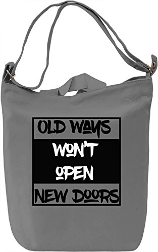 New Doors Borsa Giornaliera Canvas Canvas Day Bag| 100% Premium Cotton Canvas| DTG Printing|