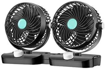 huiouer Ventilador de Coche de 12 V/24 V, 360 Grados, bajo Nivel ...