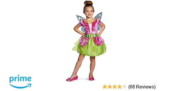 170773fe016 Disney's The Pirate Fairy Pirate Tinkerbell Classic Girls Costume,  X-Small/3T-4T