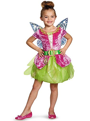 Disney's The Pirate Fairy Pirate Tinkerbell Classic Girls Costume, X-Small/3T-4T