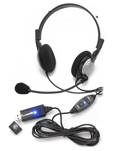 Voice Recognition USB Headset with Noise Cancelling Microphone for Speech Recognition Software