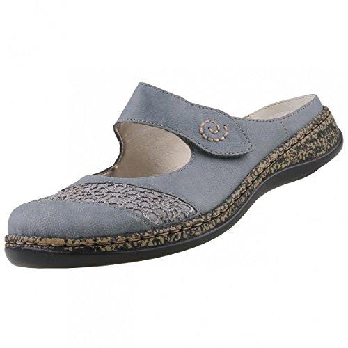 Rieker Damen Clogs Blau, Schuhgröße:EUR 39