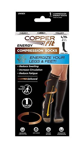 Copper Fit Energy Compression Knee High Socks
