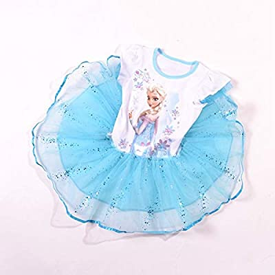 52103cb7f0b36 Elsa Anna Frozen Tutu Girls Baby Dress Pink Color 4-5 Years: Amazon ...