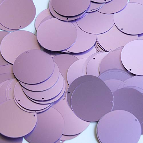- Round Flat Sequin 30mm Orchid Lavender Matte Satin Shimmer. Couture Paillettes. Made in USA