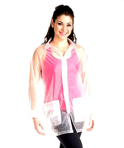 Rain Wrapper (Body Wrappers Womens RAINCOAT (R101) -CLEAR -L)