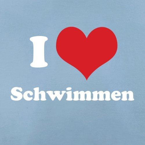 I Love Schwimmen - Herren T-Shirt - Himmelblau - XL