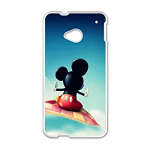 HTC One M7 Cell Phone Case White Mickey Mouse zzl