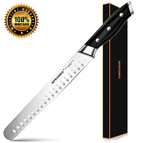 Knife Slicing Granton Edge (SPEVORIX Slicing Carving Knife, Premium 9