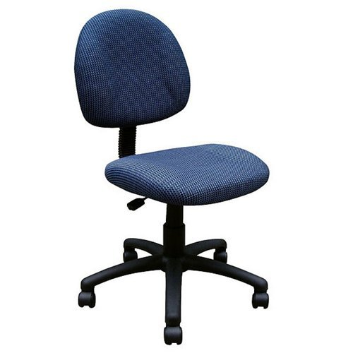 Boss Black Upholstered Deluxe Posture Task Chair, Multiple Colors by Norstar