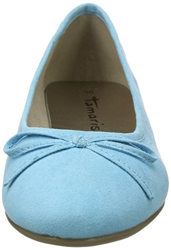 Tamaris Damen 22150 Geschlossene Ballerinas Blau (AZUR 883)