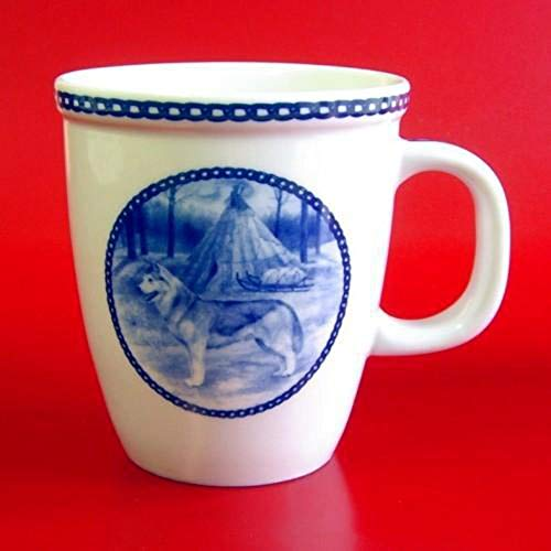 Siberian Husky - Porcelain Mug made in Denmark Premium Quality and Design from Lekven. Perfect Gift For all Dog Lovers. Size - 4.2 inches. (Siberian Husky Porcelain)