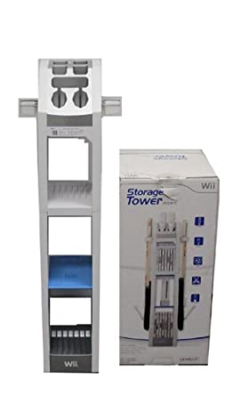 Amazon Com Levelup Wii Aspect Game Storage Tower Black Level Up Video Games