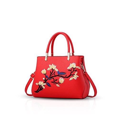 Commuter Pu Tracolla Elegante Rosso A Borse Durevole Tote Grande Donna Moda  Nicole Impermeabile Azzurro Mano Spalla amp doris OqwH8nxz e5e4810986a