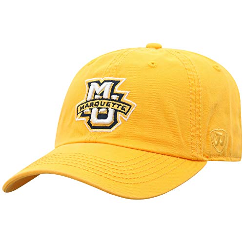 Top of the World Marquette Golden Eagles Men's Hat Icon, Gold, Adjustable