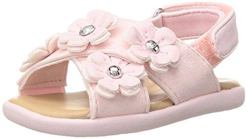 UGG Girls I Allairey Sparkles Flat Sandal, Seashell Pink, 6-7 M US Infant ()