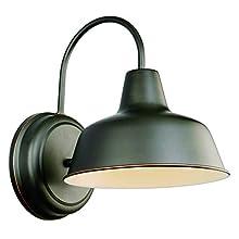 Design House 519504 Mason 1 Light Wall Light, Oil Rubbed Bronze