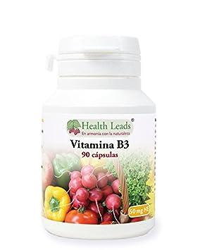 Vitamina B3 (niacina o ácido nicotínico) 50mg x 90 Cápsulas: Amazon.es: Salud y cuidado personal