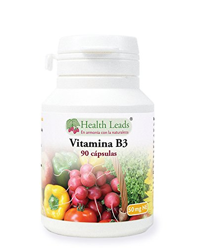 Vitamina B3 (niacina o ácido nicotínico) 50mg x 90 Cápsulas