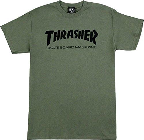 Thrasher Skate Mag Medium Army Black Short Sleeve by Thrasher