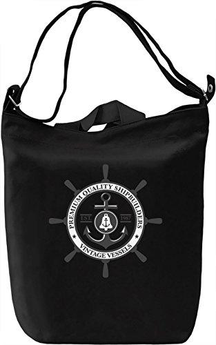 Ship wheel Borsa Giornaliera Canvas Canvas Day Bag| 100% Premium Cotton Canvas| DTG Printing|
