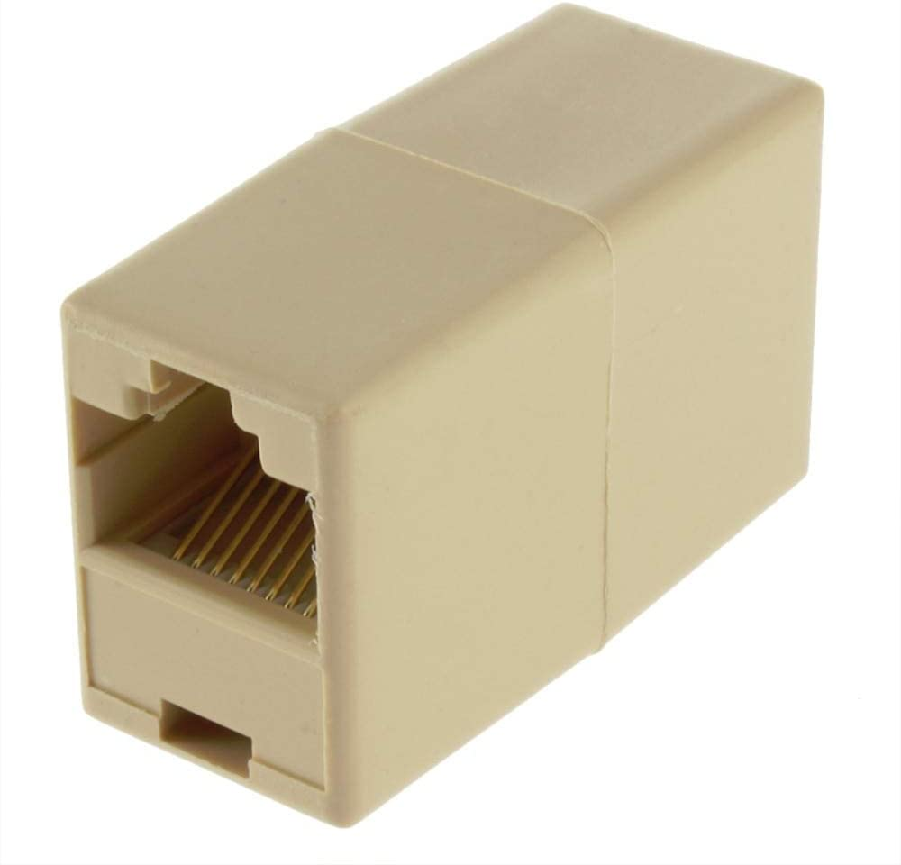 Occus 1Pcs RJ45 for CAT5 Ethernet Cable LAN Port 1 to 2 Socket Splitter Connector Adapter Hot Worldwide Yoton Cable Length: 35mm