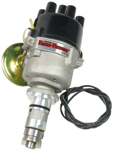 Pertronix D179600 Flame-Thrower Plug and Play 12 Volt Positive Ground Vacuum Advance Cast Electronic Distributor with Ignitor Technology (Positive Ground)