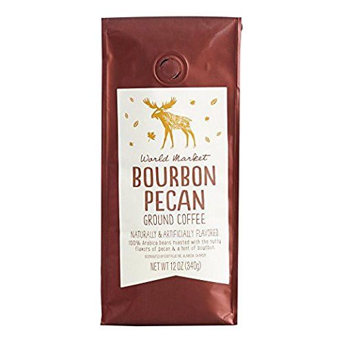 World Marke Bourbon Pecan Ground Coffee Beans - Seasonal Limited Edition Coffee Pure Arabica, Great Aroma Rich Flavored Coffee | Gourmet Blend of Central & South American | 12 Ounce, ()