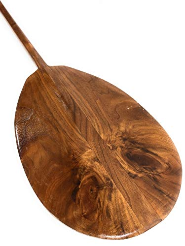 (Tikimaster Black Walnut Hawaiian Owl Outrigger Paddle 60