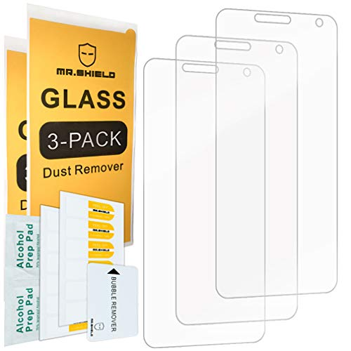 [3-Pack]-Mr.Shield for Cricket Wave [Tempered Glass] Screen Protector with Lifetime - Protector Screen Cricket