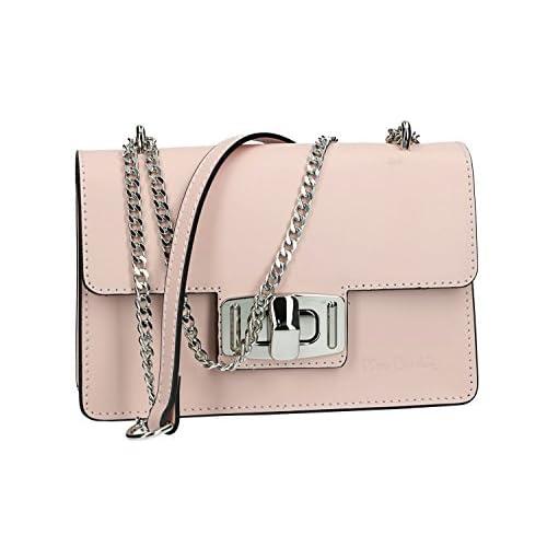 c0b9ec43f23 60% de descuento Bolsa mujer de hombro mini PIERRE CARDIN rosa en cuero  Made in