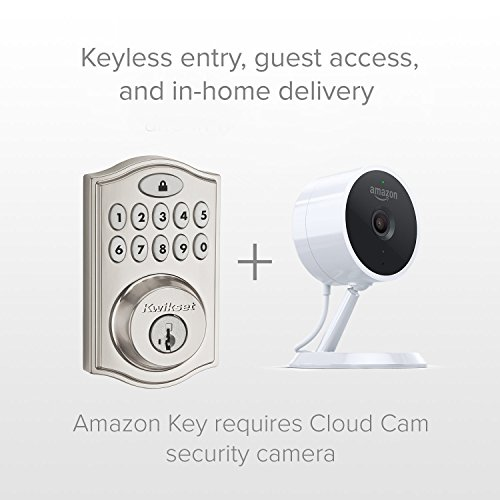Kwikset SmartCode 914 Keypad Smart Lock (Amazon Key Edition – Amazon Cloud Cam required), Compatible with Alexa, featuring SmartKey in Satin Nickel by Kwikset (Image #2)
