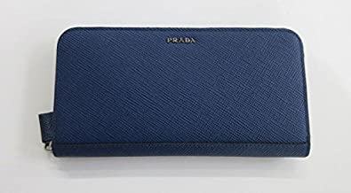 f0b532014e28 Amazon | (プラダ)メンズ PRADA ラウンドファスナー長財布 サフィアーノ ブルー p336 [並行輸入品] | PRADA(プラダ) |  財布