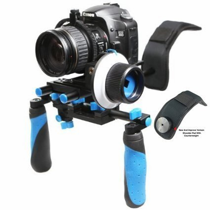 Morros DSLR Rig Shoulder mount rig Stabilizer and Follow Focus With Gear Ring Belt for DSLR cameras and Camcorders