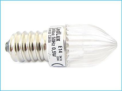 Imagenes de 10 bombillas LED votivas E14 AC 24V 0.5W para las luces Illuminations Cementerios Cementerio señalización Luces Blanca Cálida: Amazon.es: ...