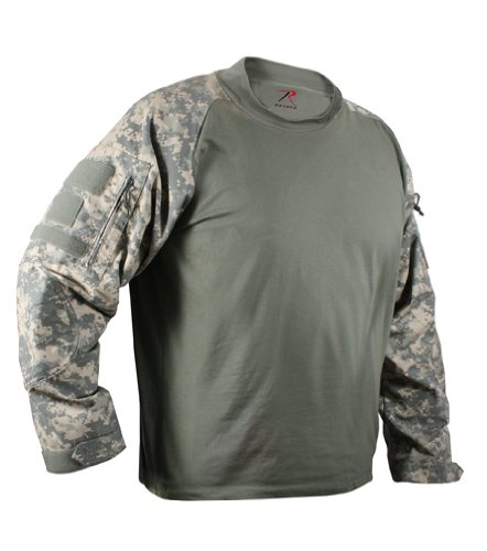 Acu Digital Camo Short (ROTHCO MILITARY COMBAT SHIRT - ACU DIGITAL CAMO - Size: Large)