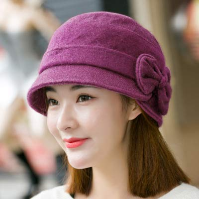 2d7bcc7e3bee7 Image Unavailable. Image not available for. Color  Funnmart Fisherman Hat  Ladies Autumn Winter Bow Cap Wool Rabbit Blended Knitted Wool Hats Warm  Berets