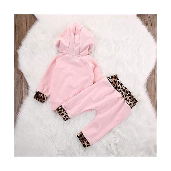 EDOTON Outfits Suit Neonato Bambina Manica Lunghe Cappuccio Vestiti Cappotto Floreale Top Felpa & Pantaloni Due Pezzi… 3